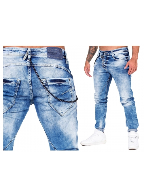 Spodnie Jeans CIPO BAXX Slim Tapered Light