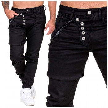 Cipo Baxx Spodnie Jeans Slim Tapered Black